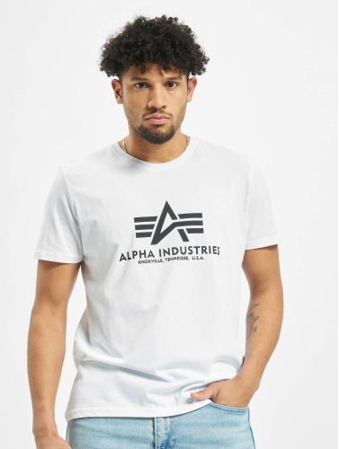 Alpha Industries Hombres Camiseta Basic in blanco
