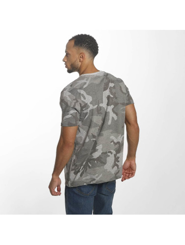 Alpha Industries Hombres Camiseta Blurred in gris