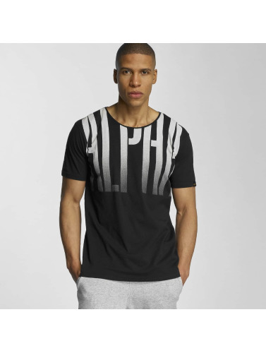 Alpha Industries Hombres Camiseta Fade Out in negro
