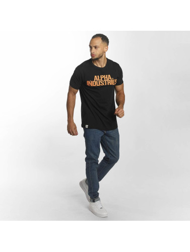 Alpha Industries Hombres Camiseta Blurred in negro