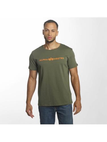Alpha Industries Hombres Camiseta Alphandstrs in oliva
