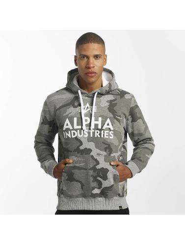 Alpha Industries Herren Hoody Foam Print in grau