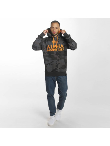 Alpha Industries Herren Hoody Foam Print in schwarz