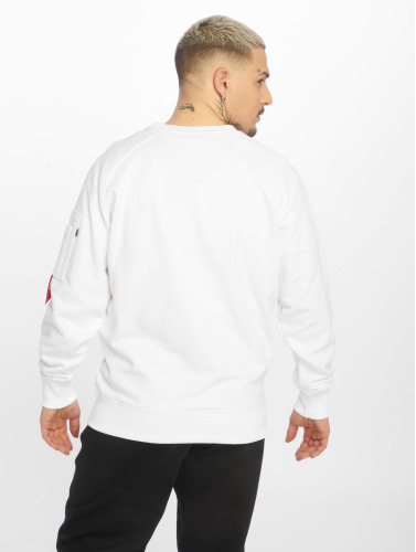 Alpha Industries Hombres Jersey X-Fit in blanco