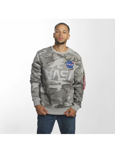 Alpha Industries Hombres Jersey NASA Reflective in camuflaje