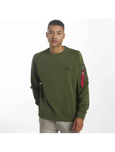 Alpha Industries Hombres Jersey X-Fit in verde