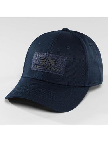 Alpha Industries Snapback Cap Velcro in blau
