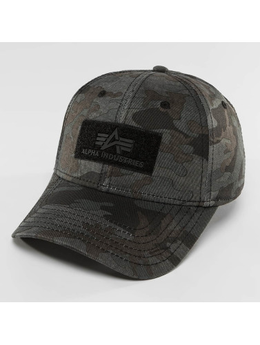 Alpha Industries Snapback Cap Velcro in camouflage
