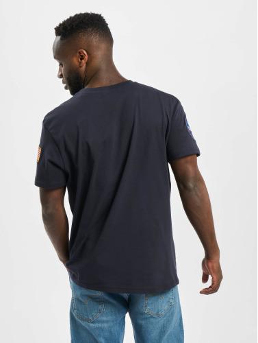 Alpha Industries Herren T-Shirt NASA in blau