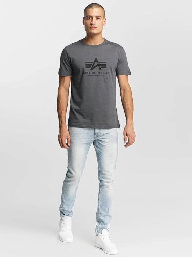 Alpha Industries Herren T-Shirt Basic in grau