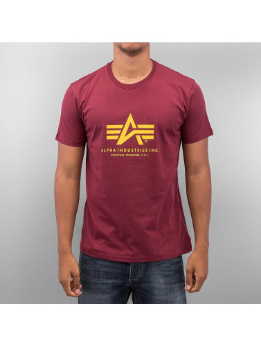 Alpha Industries Herren T-Shirt Basic in rot