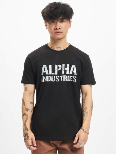Alpha Industries Herren T-Shirt Camo in schwarz