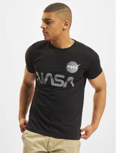 Alpha Industries Herren T-Shirt NASA Reflective in schwarz
