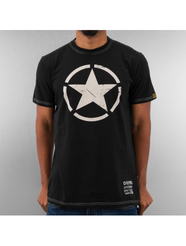 Alpha Industries Herren T-Shirt Star in schwarz