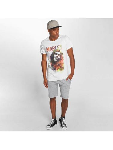 Amplified Hombres Camiseta Bob Marley Water Color in blanco