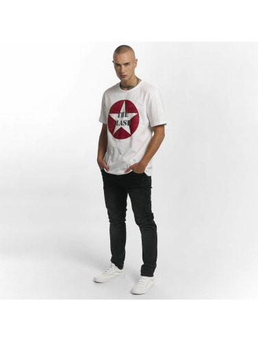 Amplified Hombres Camiseta The Clash Star Logo in blanco