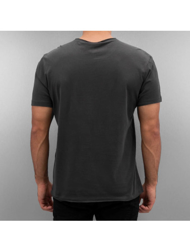 Amplified Hombres Camiseta Nirvana Smiley Face in gris
