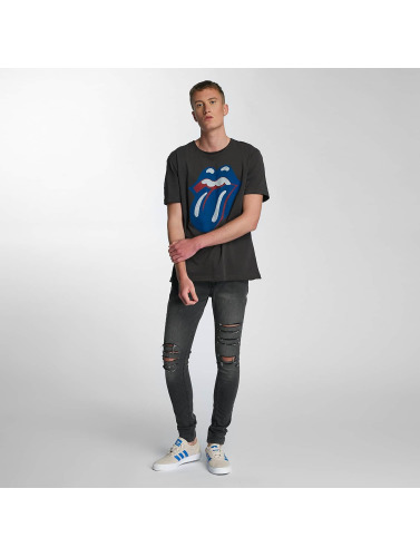 Amplified Hombres Camiseta Rolling Stones Blue und Lonesome in gris