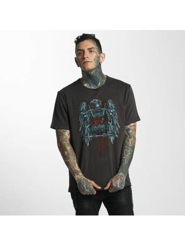 Amplified Hombres Camiseta Slayer Metal Edge in gris