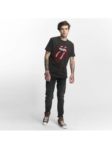 Amplified Hombres Camiseta Rolling Stones Tongue Era in gris