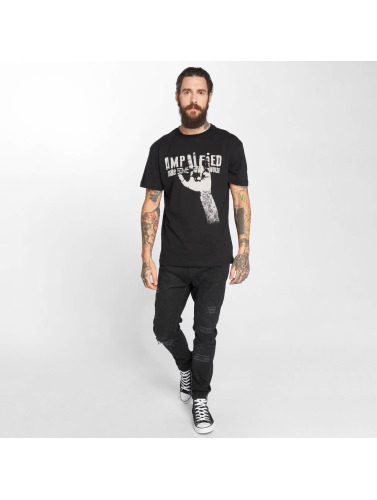 Amplified Hombres Camiseta Devil Horns in negro