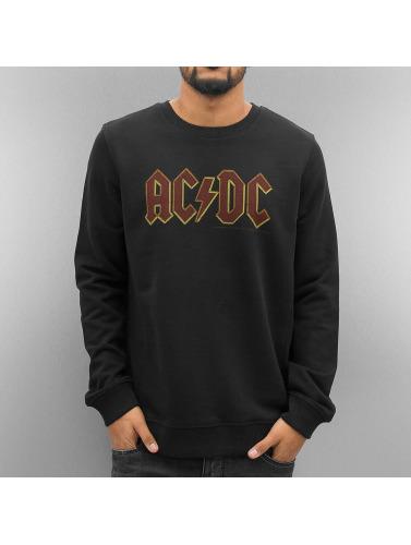 Amplified Herren Pullover AC DC Logo in schwarz