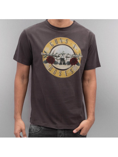 Amplified Herren T-Shirt Guns & Roses Drum in grau
