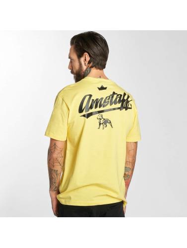 Amstaff Hombres Camiseta Yarrow in amarillo