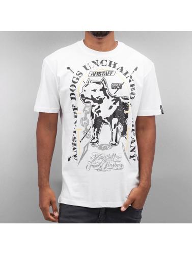 Amstaff Hombres Camiseta Galan in blanco