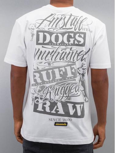 Amstaff Hombres Camiseta Mero in blanco