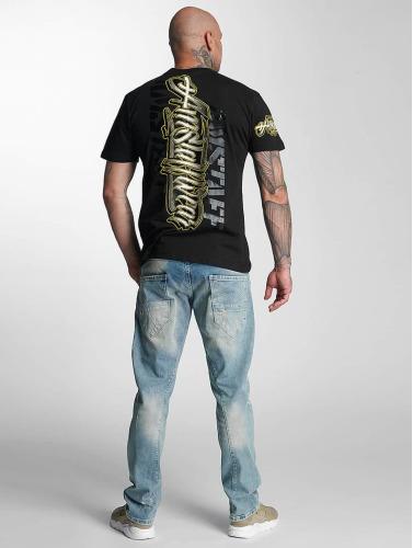 Amstaff Hombres Camiseta Neto in negro