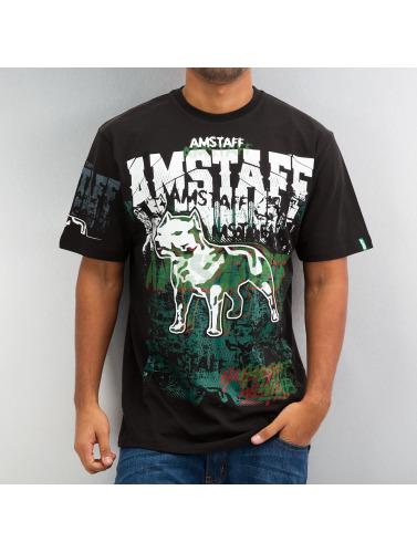 Amstaff Hombres Camiseta Psyc in negro