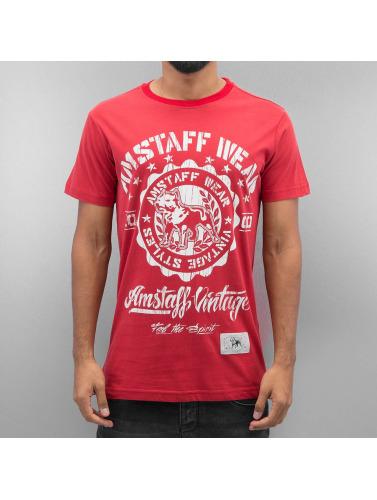 Amstaff Hombres Camiseta Vintage Dorano in rojo