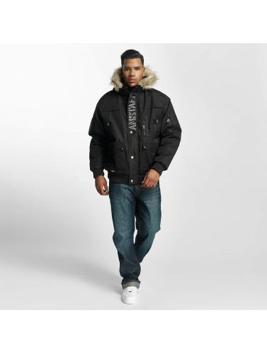 Amstaff Hombres Chaqueta de invierno Fur in negro