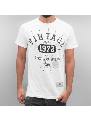 Amstaff Herren T-Shirt Vintage in weiß