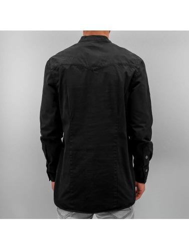 Amsterdenim Herren Hemd Wim in schwarz
