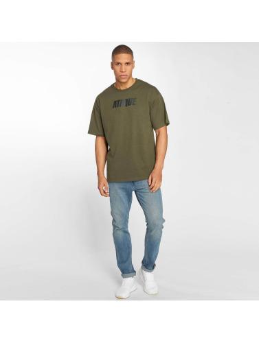 Ataque Hombres Camiseta Leon in caqui