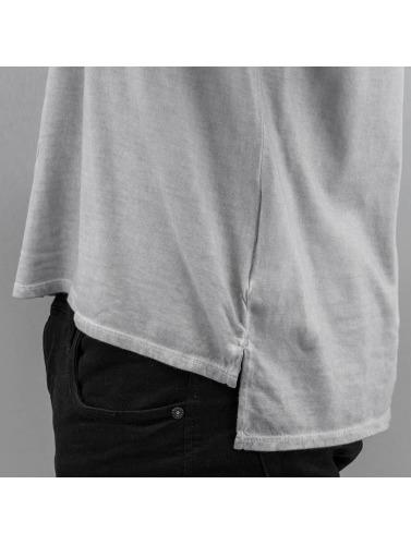 gris Style Camiseta de Hombres Dyed larga in manga Authentic 8wqaga