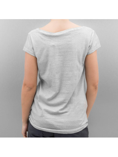 Authentic Style Mujeres Camiseta Feather in gris