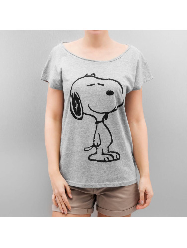 Authentic Style Mujeres Camiseta Peanuts in gris