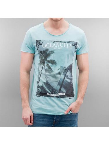 Authentic Style Hombres Camiseta Oceancity in turquesa