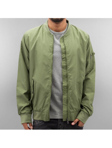 Authentic Style Hombres Cazadora bomber Thin in oliva