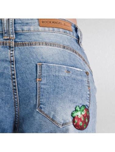 Authentic Style Damen Loose Fit Jeans Rosie Badges in blau