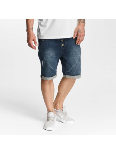 Authentic Style Herren Shorts Sublevel Haka Bermuda Jogg Denim in blau
