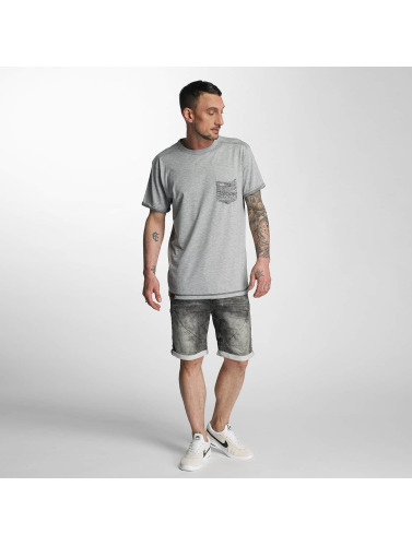 Authentic Style Herren Shorts Sublevel Haka Bermuda Jogg Denim in grau