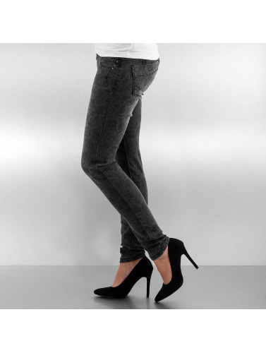 Authentic Style Damen Skinny Jeans Roses in schwarz