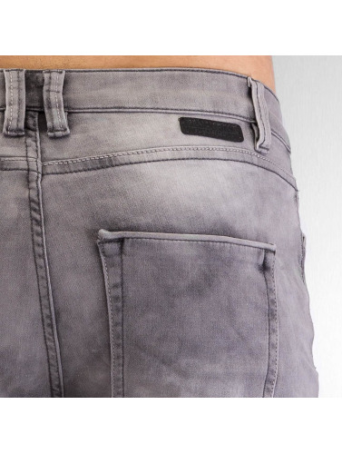 Authentic Style Herren Straight Fit Jeans Jogg in grau