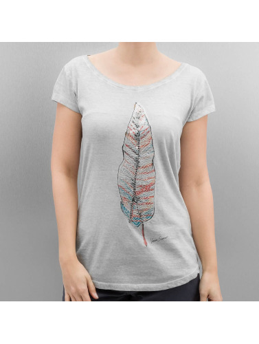 Authentic Style Damen T-Shirt Feather in grau