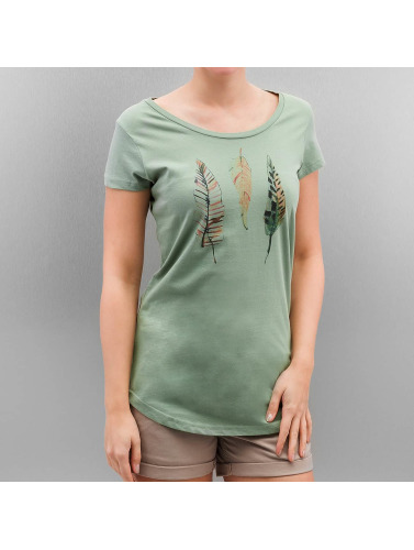 Authentic Style Damen T-Shirt Urban Surface Feathers in grün
