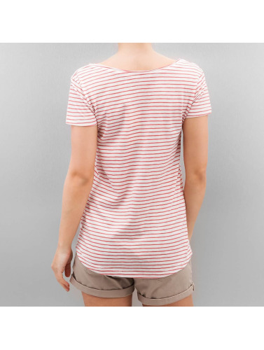 Authentic Style Damen T-Shirt Fresh Made Stripe in rosa